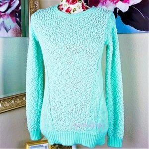 Allison Brittney | Cozy Sweater in Aqua Size Small